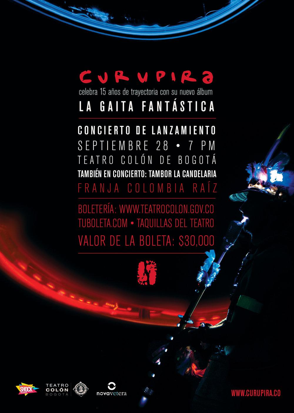 La Gaita Fantástica | Launch Concert Poster