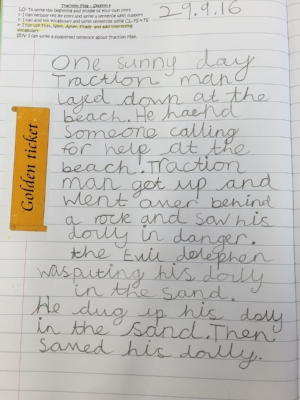 Rumaysa (Year 1!) is already showing considerable writing talent...