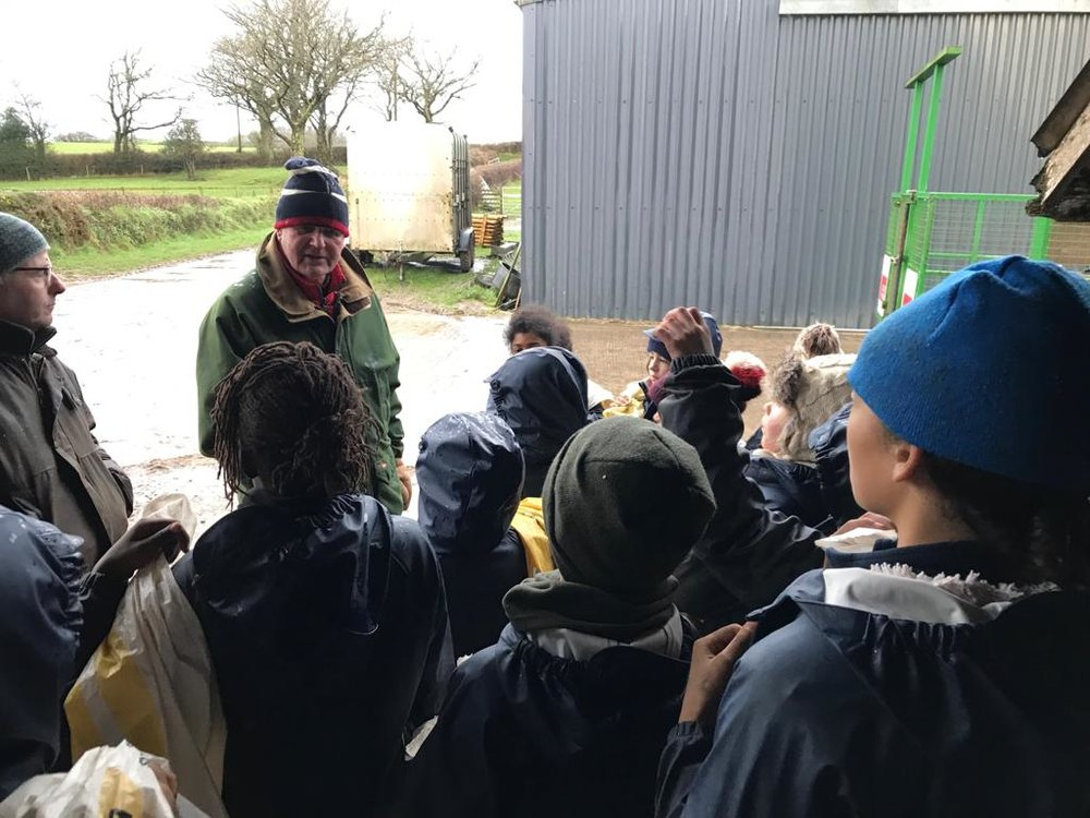 Michael Morpurgo's visit at Bridgetown Farm!