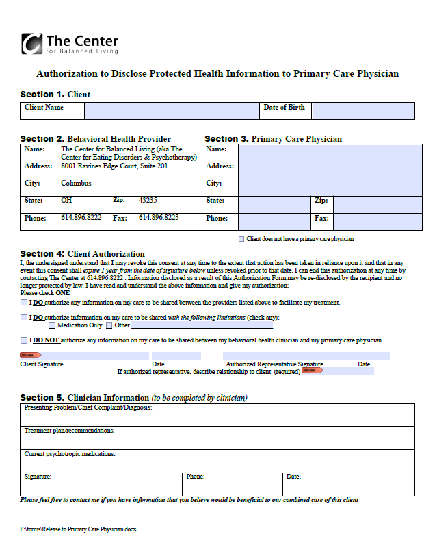 Healthcare provider release of information (ROI) -