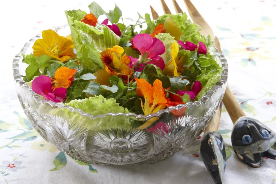 Flower Salad.Photo by Guzman.