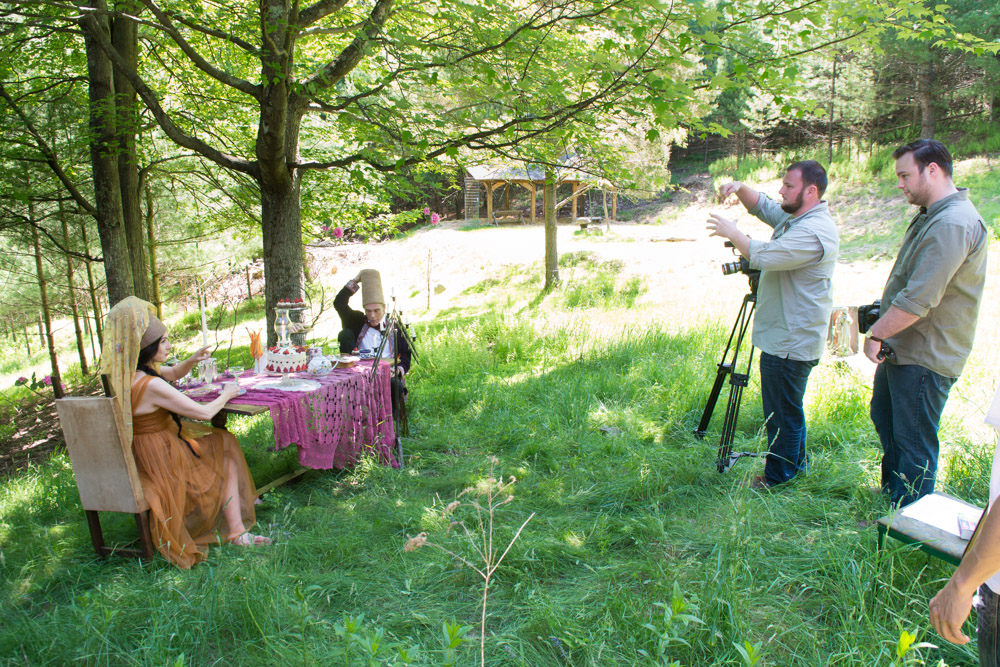 At the video shoot for Simple Recipes for Joy PR trailer #2. Photo by Derek Pashupa Goodwin.