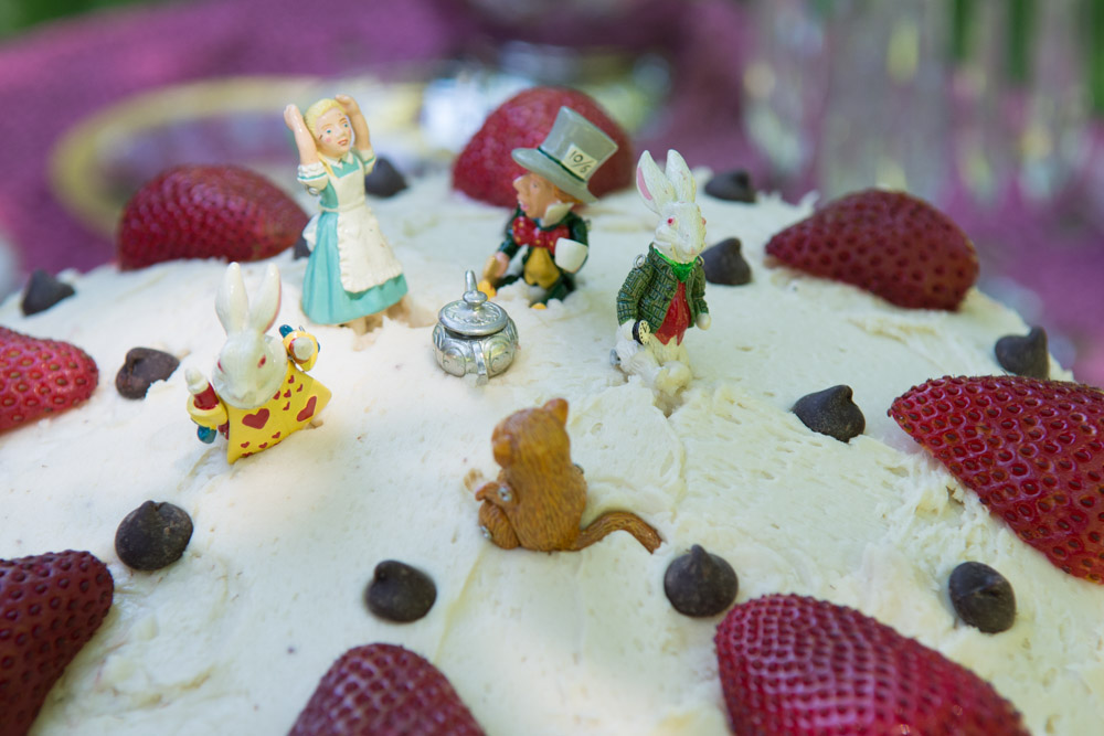 Closeup of Mad Hatter Cake #1. Photo by Derek Pashupa Goodwin.