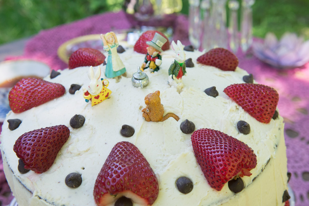 Closeup of Mad Hatter Cake #2. Photo by Derek Pashupa Goodwin.