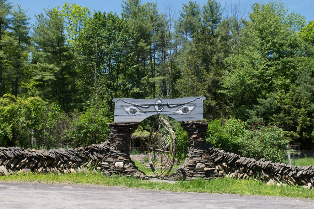 Gate made by David Life into the Woodstock vegetable garden. Photo by Derek Pashupa Goodwin.