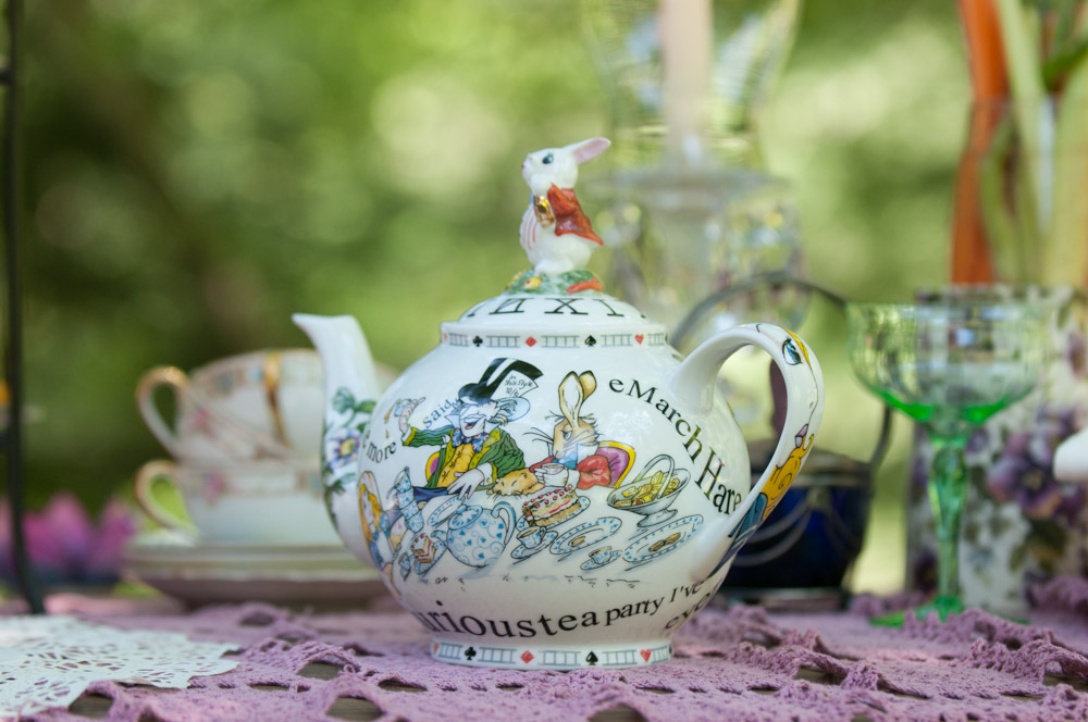 Mad Hatter tea pot for  Simple Recipes for Joy  PR Shoot. Photo by Derek Pashupa Goodwin