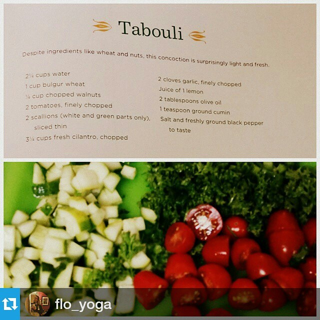 Thanks for posting!! #Repost @flo_yoga ・・・ Took a detox bath, now making fresh light lunch from #simplerecipesforjoy #tabouli #vegan #whatveganseat