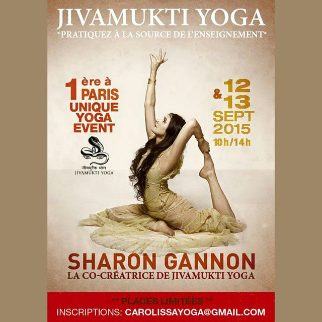 I will be teaching in Paris Sept 12th and 13th Space is limited, please contact  carolissayoga @ gmail.com To register #jivamukti #jivamuktiyoga #jivamuktiparis #yoga #paris #event