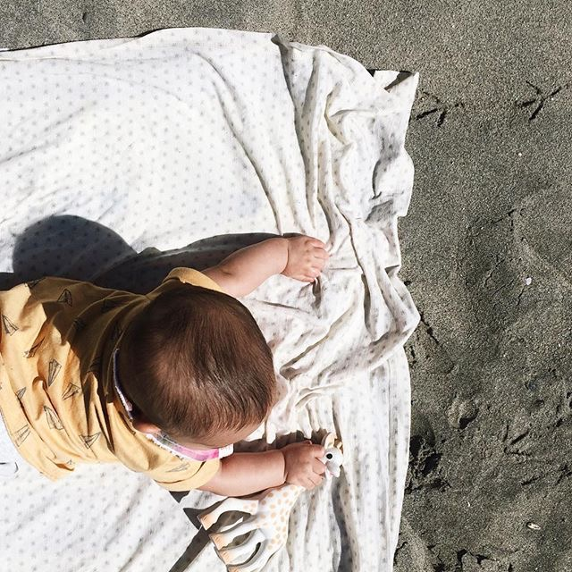 Yes, it's a swaddle, a beach blanket, and whatever else you dream up.  (Photo by @tea.lopez)
