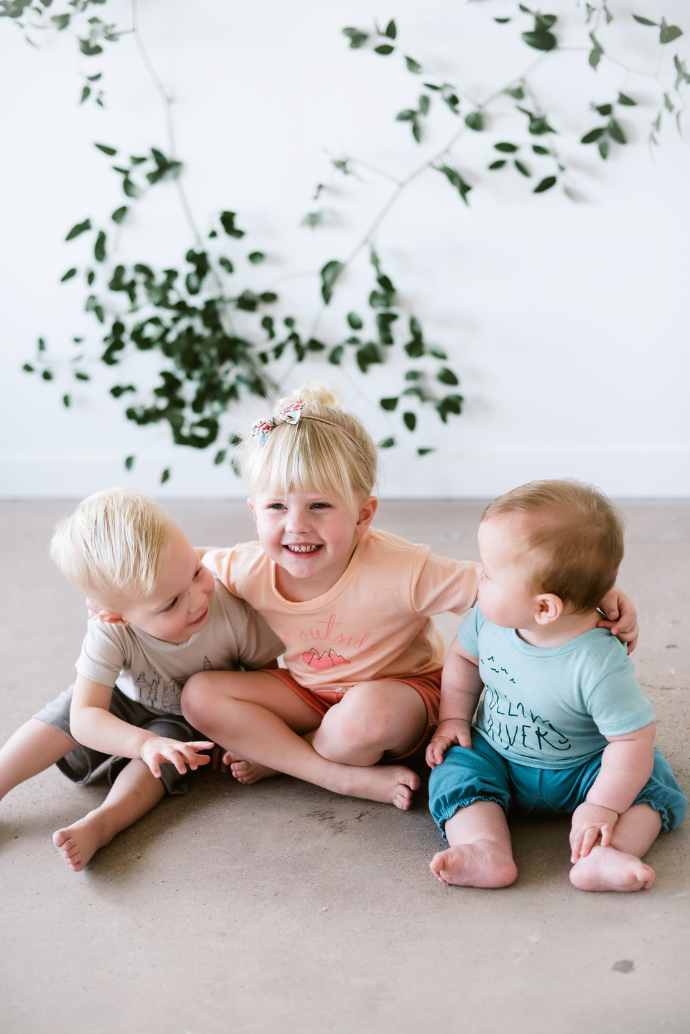 Happy kids ready for play in our merino essentials (Photo by Simply Suzy Photography)