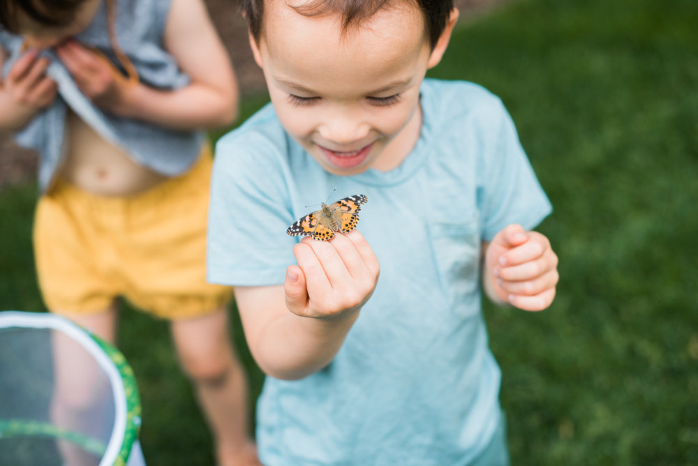 Our kids meet the new butterflies! // pictured wearing the  merino pocket tee