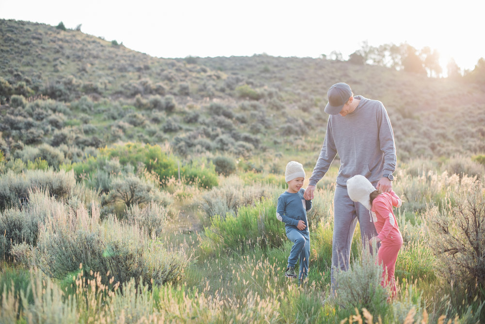 Early morning exploration on the Western Slope of Colorado // Kiddos wearing  Chasing Windmills Merino Long Johns  and Daddy wearing Ibex Merino Hoody and Sweats