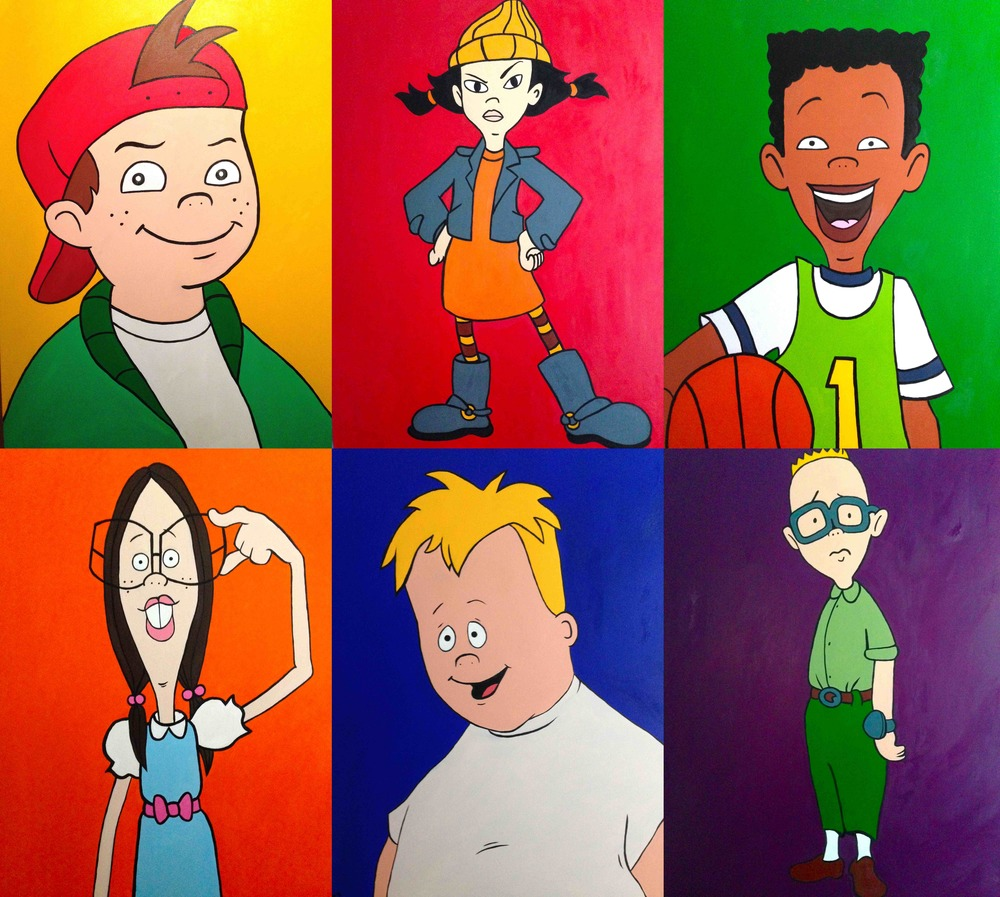 Disney's Recess commission: 6 separate paintings, each 40 x 30 inches