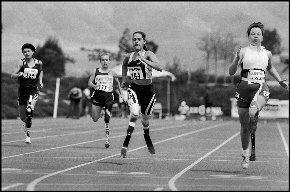 Running trials in Sacramento to qualify for the '96 Paralympics in Atlanta.