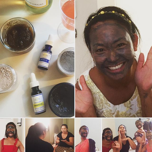 A facial party! Good friends, good food, good laughs-a great way to spend a Saturday afternoon. Everyone got to try out our soon to launch facial care line of products: Dead Sea Mud Mask, Detoxifying Clay Mask, Manuka Facial Scrub and Organic Argan Oil & Tamanu Oil. #friends #facetime #naturalbeauties #handcrafted #sandiego #saturday #naturalbeauty