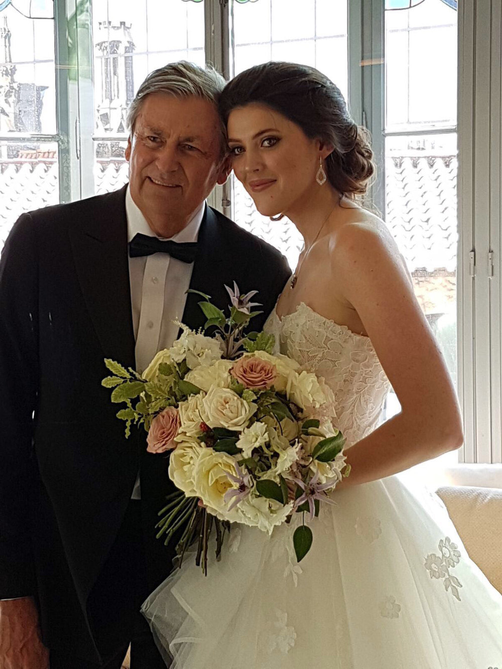 My beautiful bride with her dad