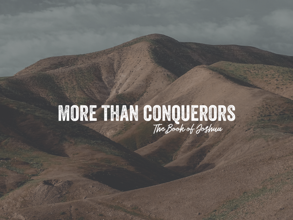 More than Conquerors  The Book of Joshua tells a story that is hopeful and rewarding. It highlights the story of Israel's conquering the land of Canaan. We should stand in awe of God's Majesty and power, His patience and providence, His fulfillment of promises, and His rewarding of a land flowing with milk and honey to Abraham's seed. This book is wonderful, historic, and worth a review.