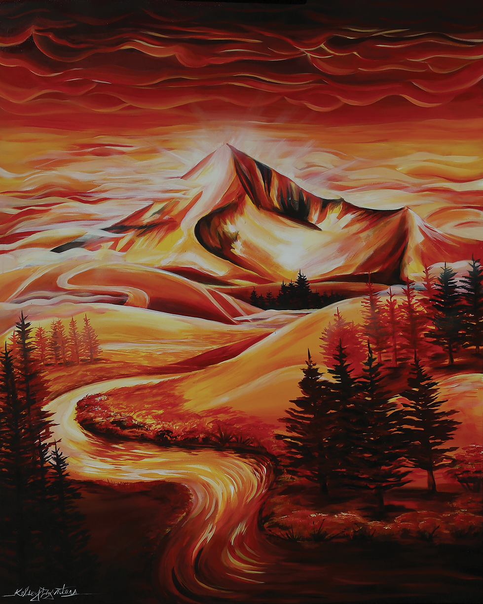 """Big (red) Sky"" acrylic, 48x60 2014 - $2,000.00"