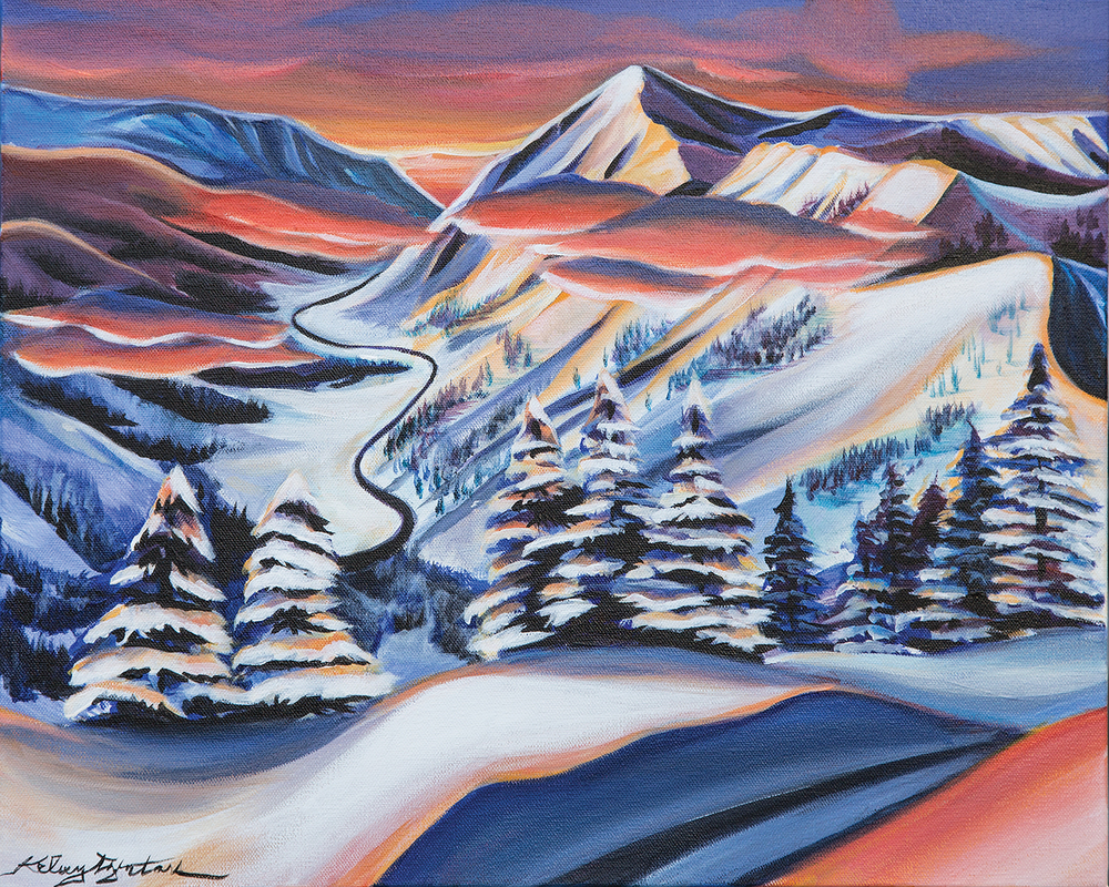 """Little Cottonwood Canyon"" acrylic, 20x16 2015 - Commission"