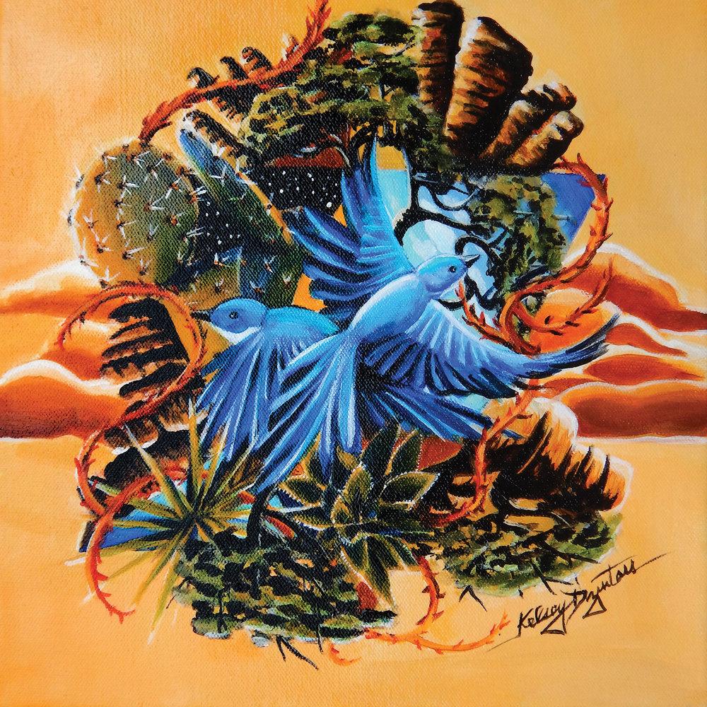Chiricahuas, acrylic, 16x16, 2016 - $250.00