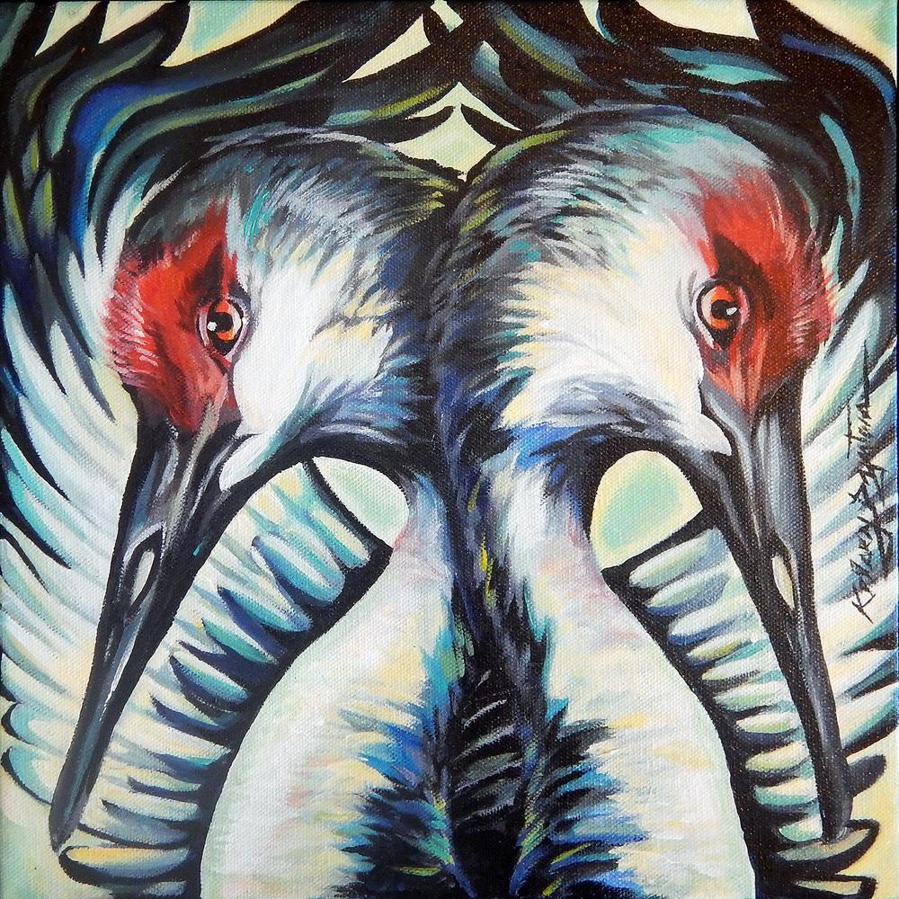 """Crania"" acrylic, 16x16 2016 - $250.00"
