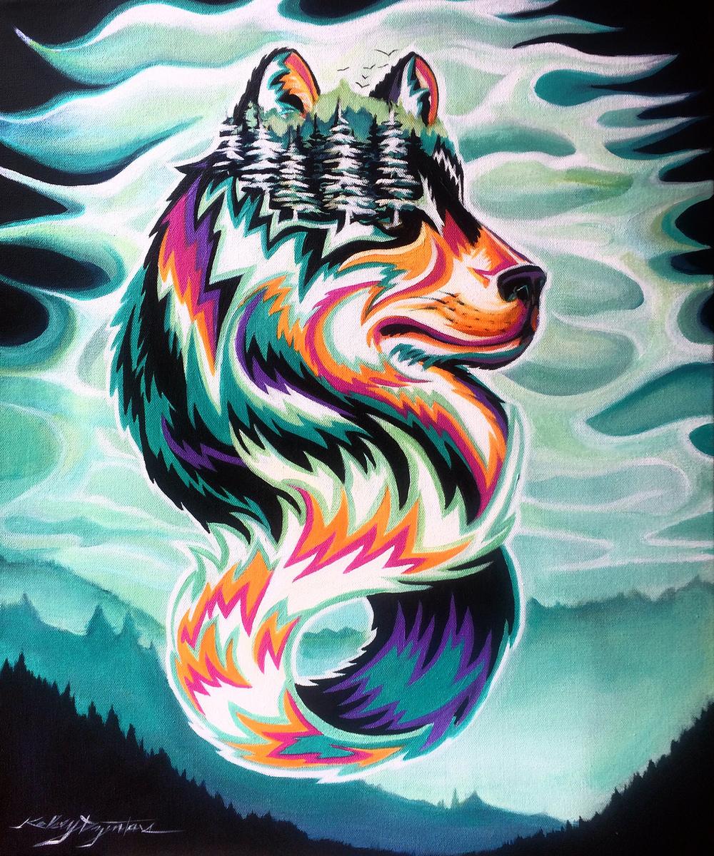 """Criatura #1"" acrylic, 20x24 2015 - $480.00"