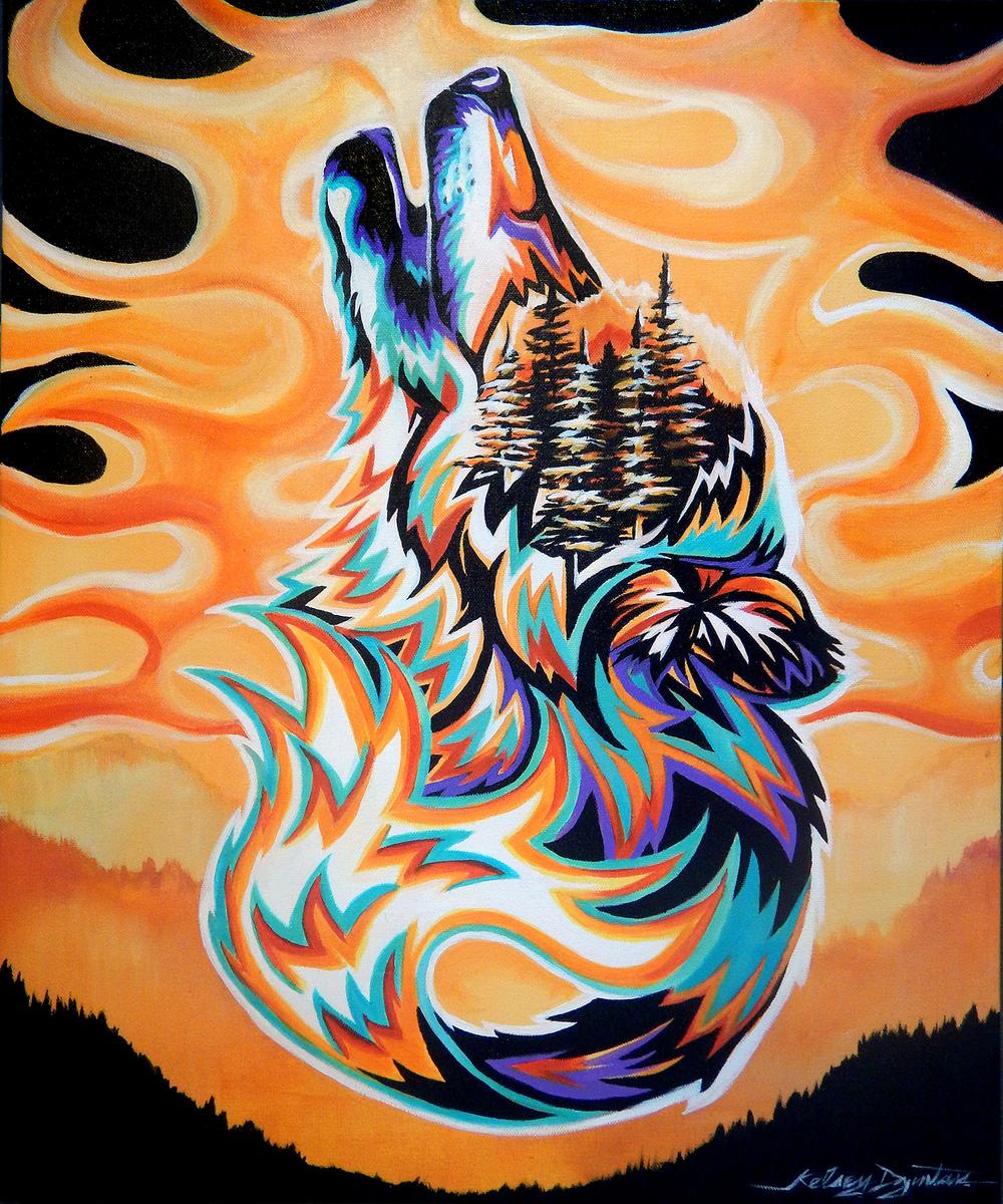 """Criatura #2"" acrylic, 20x24 2015 - $480.00"