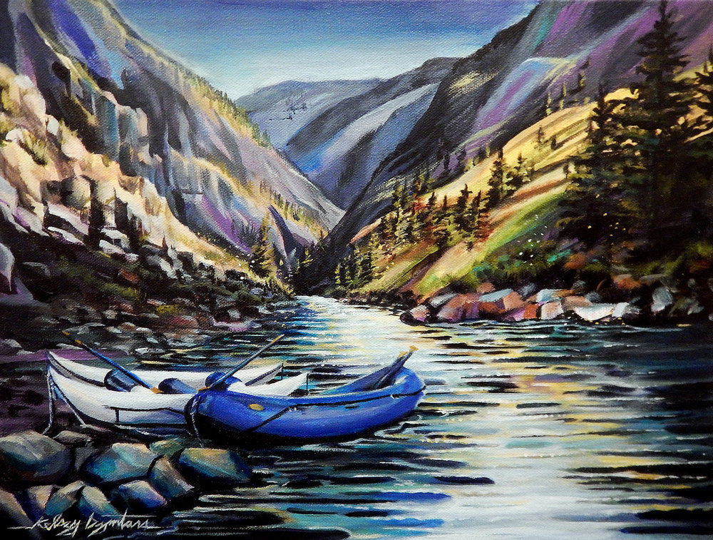 """Middle Fork Magic"" acrylic, 20x16 2016 - Commission/NFS"