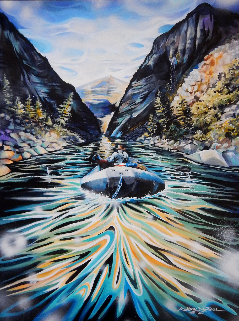 """The Impassable Canyon"" acrylic, 30x40 2016 - Commission/NFS"