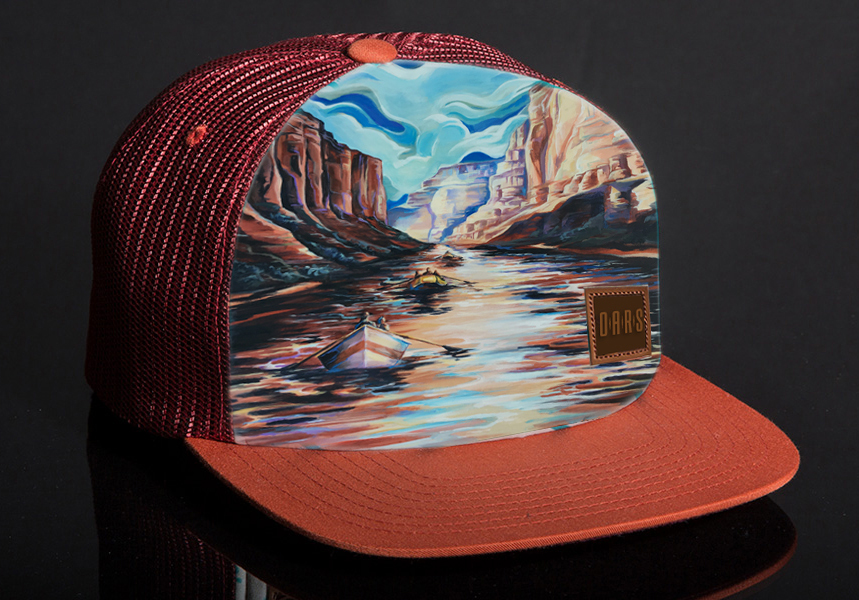 Grand Canyon hat design, O.A.R.S. Whitewater