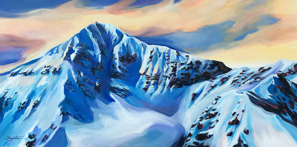 Lone Peak, acrylic on canvas, 48x24 *SOLD*