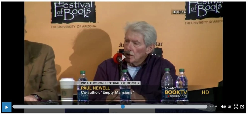 Paul and Bill on CSPAN from Tucson Festival of Books.jpg