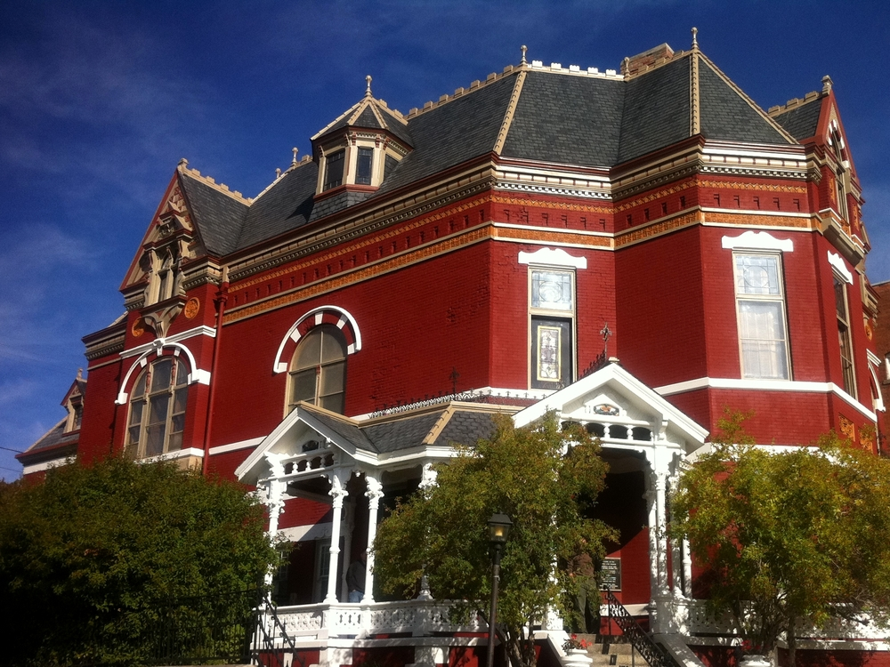 The Copper King Mansion, the W.A. Clark home at 219 W. Granite St., Butte, Montana. Built 1884-1888. Daily tours are offered, and one can book a room in the bed and breakfast at http://www.copperkingmansion.com/. c. Bill Dedman