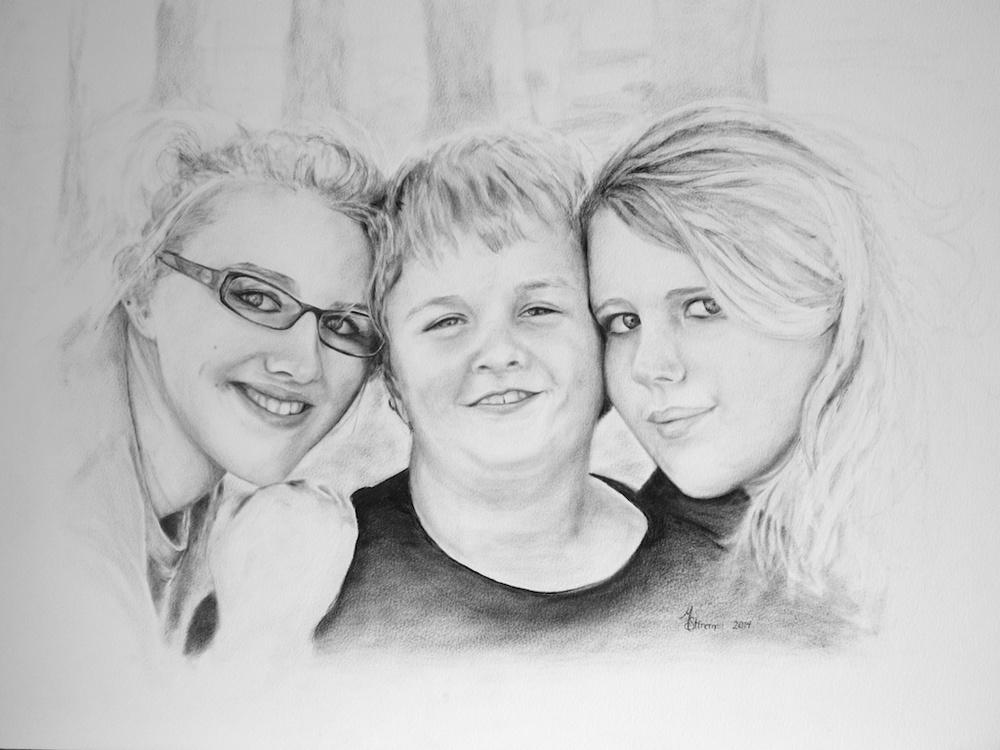 Siblings  18x24 Oil on Paper