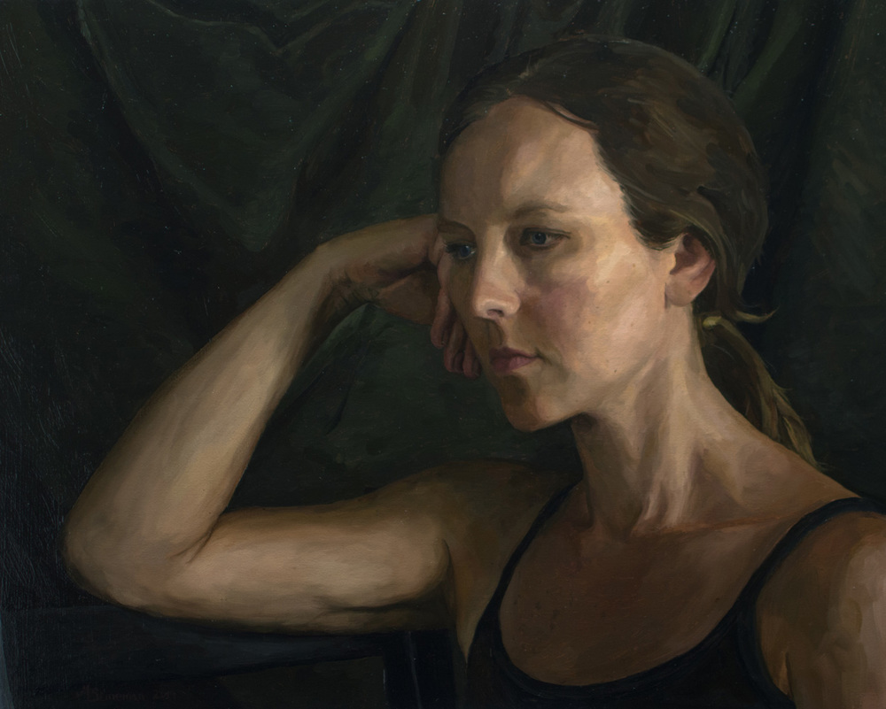 Pensive 16x20  Oil on canvas