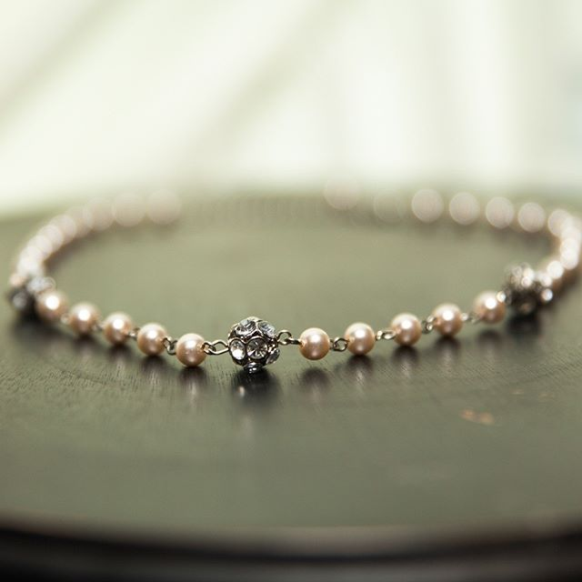 Pearls are always appropriate - Jackie Kennedy - #pearlnecklace #sparkyournight #sparkevents #weddingphotography #weddingnecklace #417wedding #springfieldmo #springfieldwedding