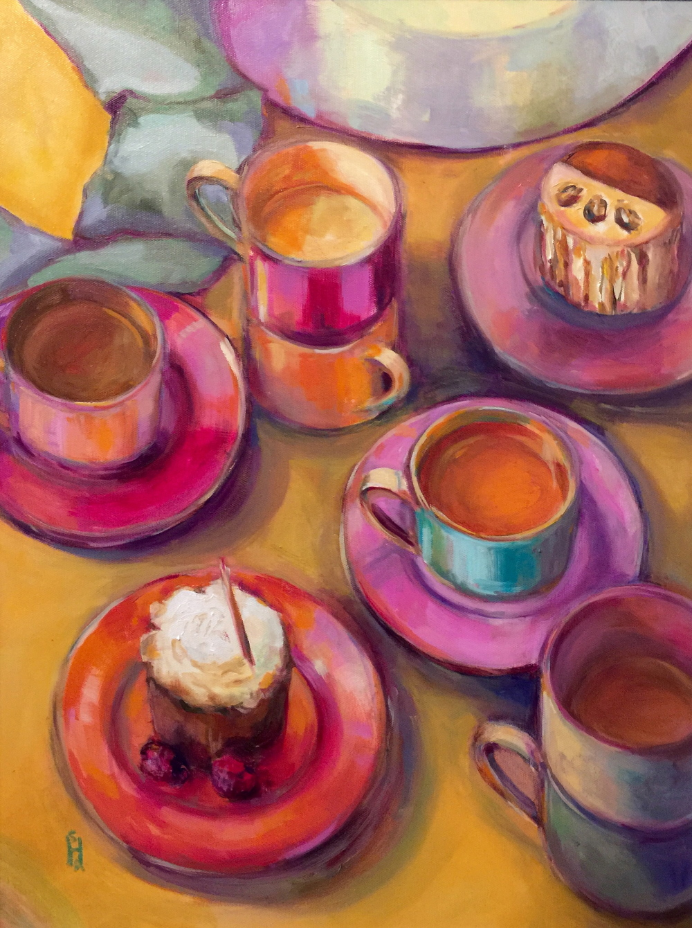 Tea Time  Oil on Canvas, 18 x24 .  Available