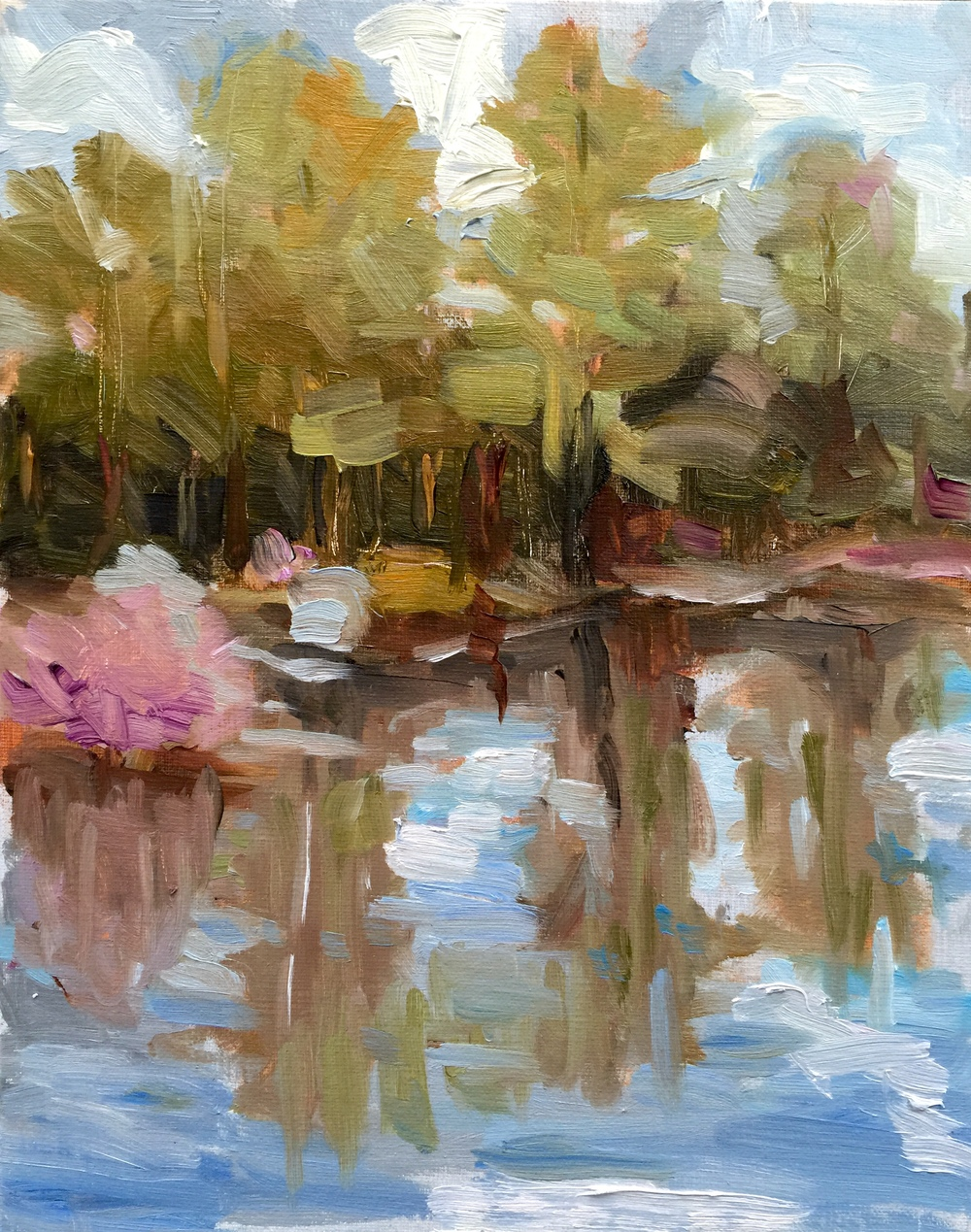 Quiet Pond  Oil on board, 8x10. Available