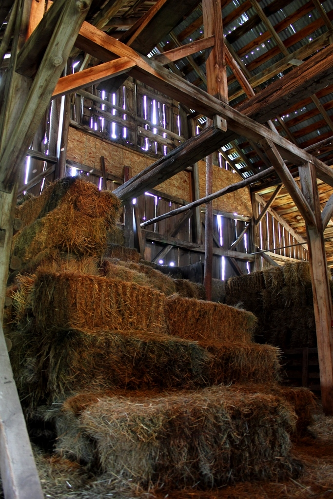 The Smiths still use the barn to store hay. Photo by Kate Hampton.