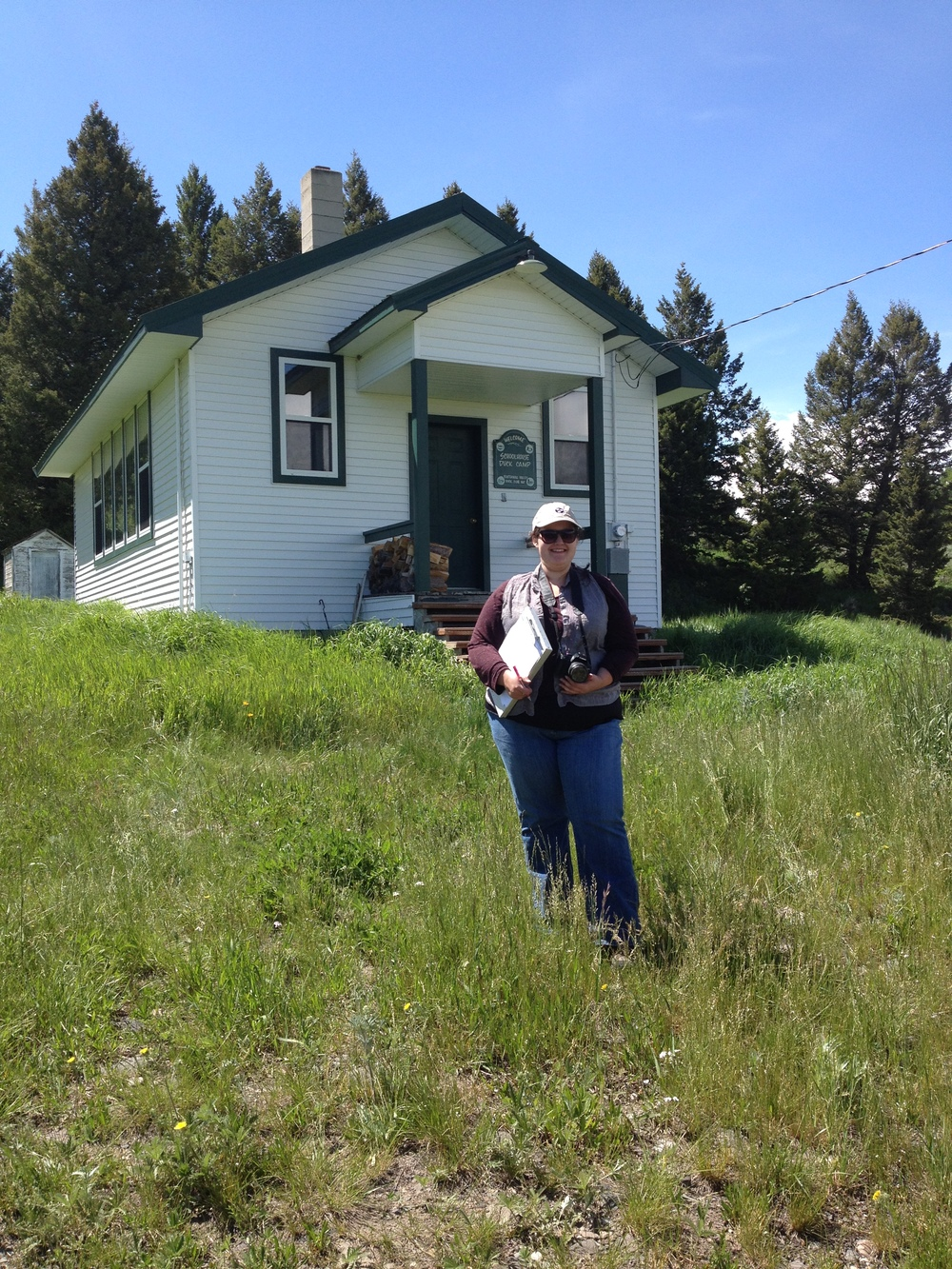 Veronica Sales began her Beaverhead County school survey work at the well preserved Lakeview School.