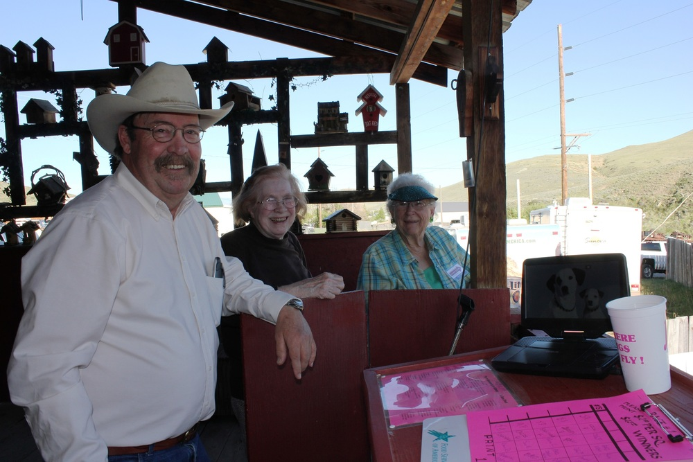 Pitts DeArmond started the pig races back in the 1990s and he still runs the races today. You can bet on the pigs or you can help set the stakes by helping Pitts roll the dice. The DeArmond's give away a portion of the race proceeds every year to college-bound students studying agriculture in Montana.