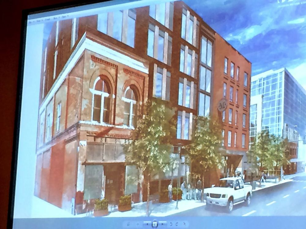 The compromise design from HomeBase and favored by the Missoula Land Use Planning Board demolishes 95% of the historic Missoula Mercantile and keeps a shred of the least visible portion of the Merc.