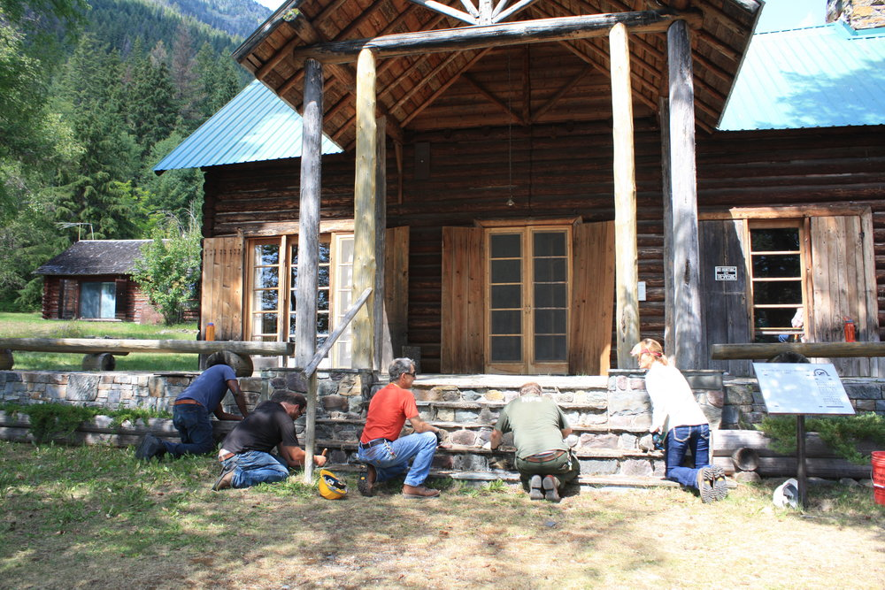 Initial maintenance and training at the Wheeler property in Glacier National Park will dovetail nicely with new work in 2017.