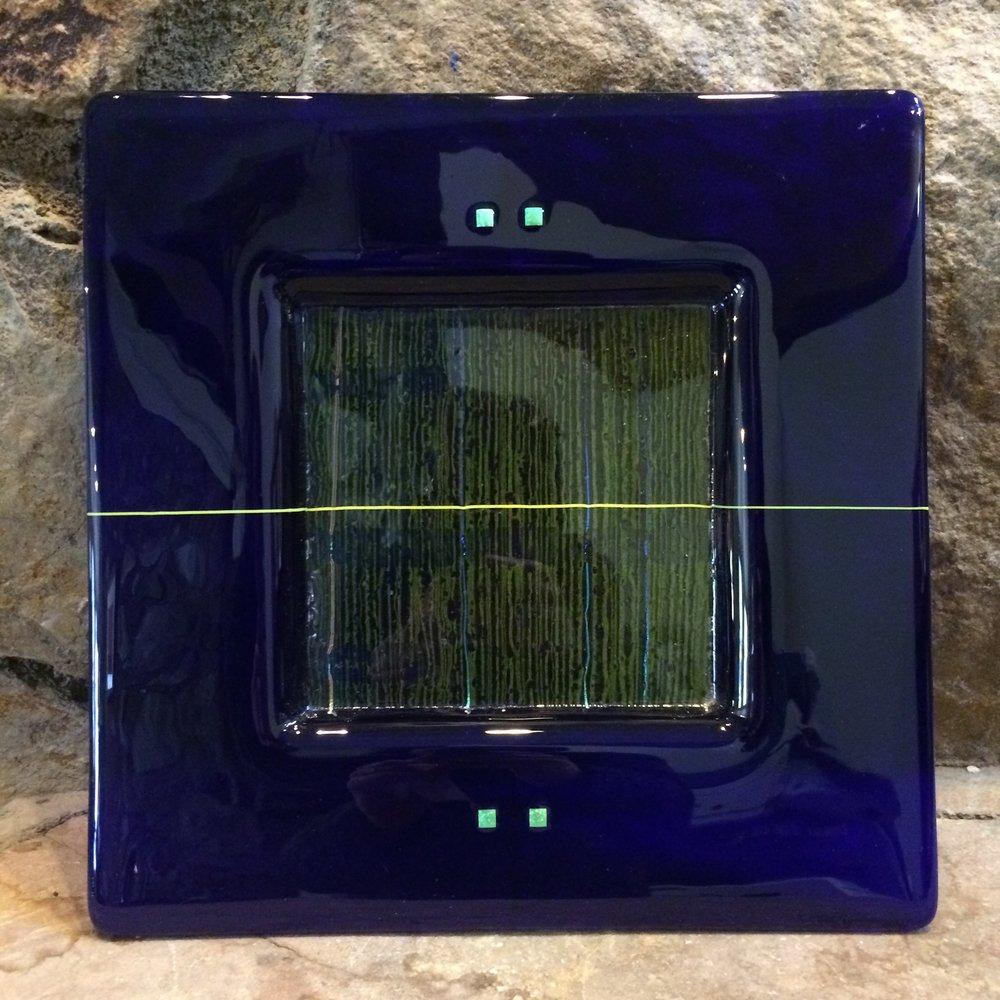 Richard Parrish, blown glass serving plate