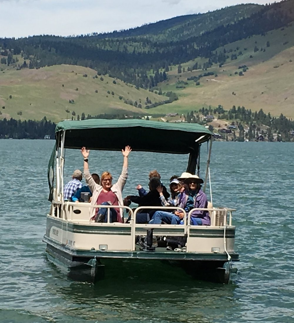 Heading out to Wild Horse Island with our boats from Matt Sisler at Big Arm Boat Rentals and Rides. We were so lucky to have beautiful weather that day.