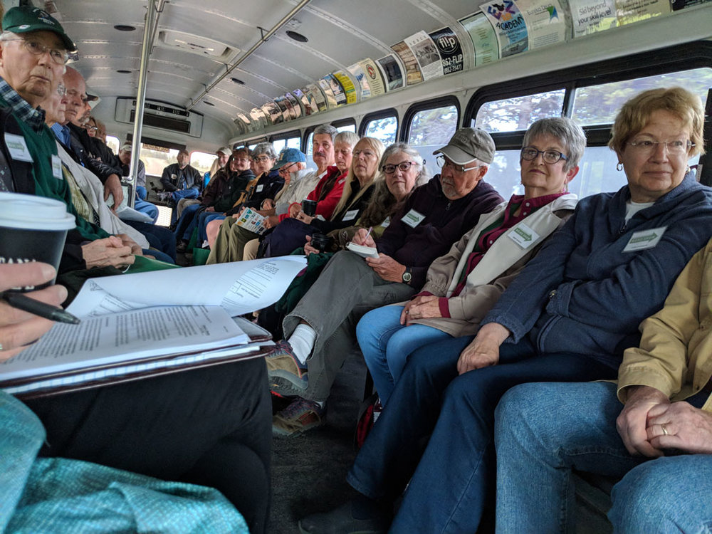 MPA borrowed the Big Mountain Snow Bus to haul up our intrepid group of North Fork tourists.