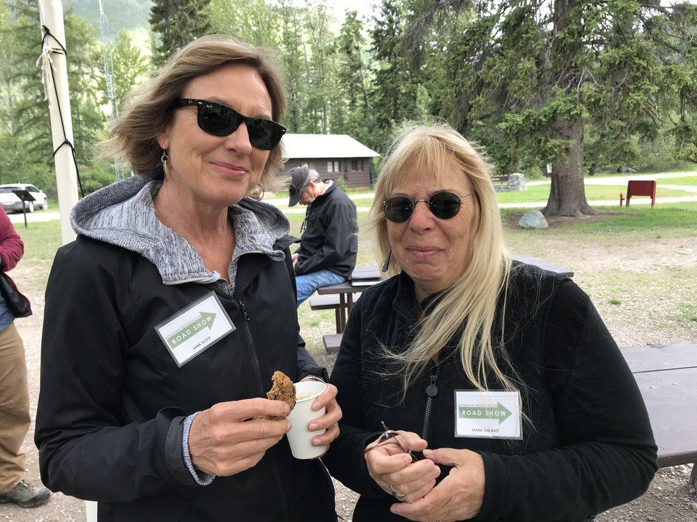 Happy Campers Sara Scott of MT Fish, Wildlife, & Parks, and MPA Board member, Mara-Gai Katz.