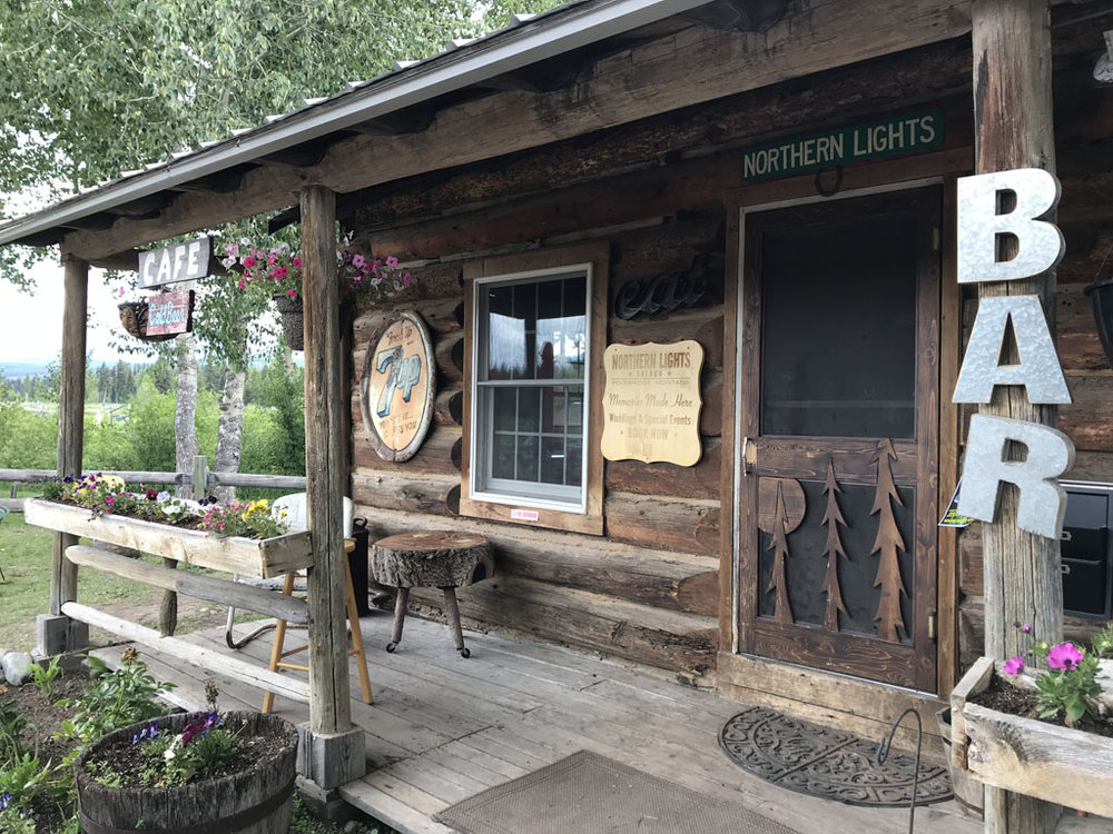 Breakfast and lunch items are served at the Polebridge Mercantile, and dinner, drinks, and music are served up nightly all summer long at the Northern Lights Saloon.
