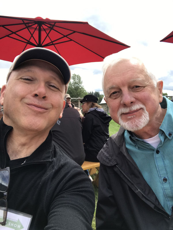 MPA Board Member and photographer extraordinaire, Rafael Chacon with Lon Johnson.
