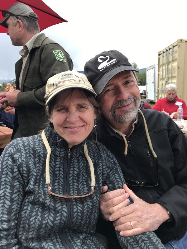 MPA Executive Director, Chere Jiusto and husband, Jim Robbins at the Polebridge Merc.